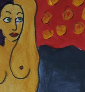 Detail Image for art nude with cat