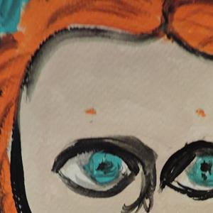 Detail Image for art red pigtails