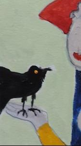 Detail Image for art woman with crow
