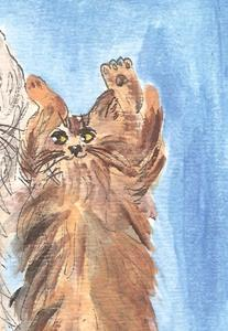 Detail Image for art maine coons dancing in the street