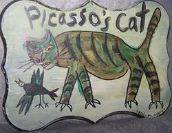 Art: Picasso's Cat by Artist Nancy Denommee