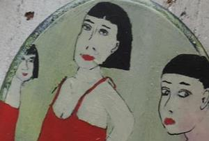 Detail Image for art three red dresses