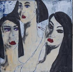 Art: The Three Sisters original painting by Artist Nancy Denommee