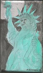 Art: Statue of Liberty at Night by Artist Nancy Denommee