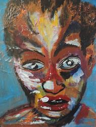 Art: face up by Artist Nancy Denommee