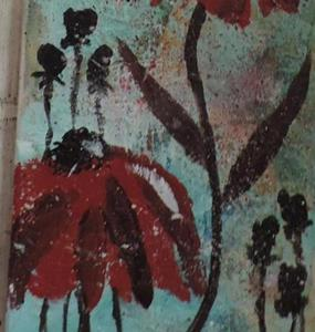 Detail Image for art three red flowers