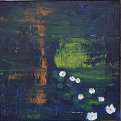 Art: Giverny original abstract painting by Artist Nancy Denommee