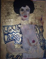 Art: Golden Judith after Klimt by Artist Nancy Denommee
