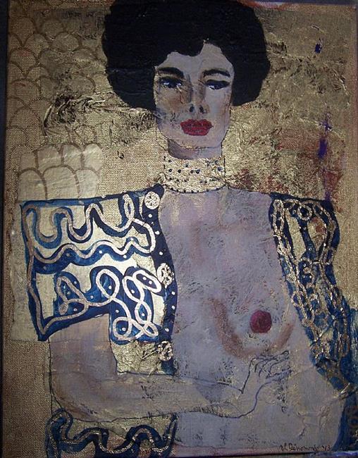Art: Golden Judith after Klimt SOLD by Artist Nancy Denommee