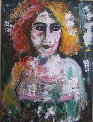 Art: Redhead SOLD by Artist Nancy Denommee