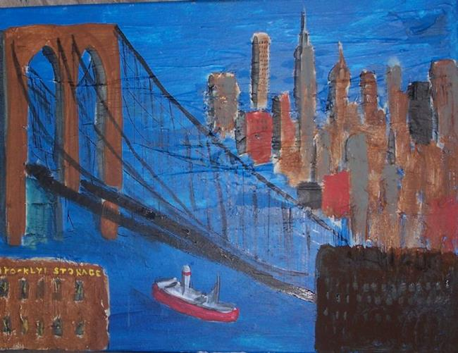 Brooklyn Bridge Abstract - SOLD - by Nancy Denommee from ...