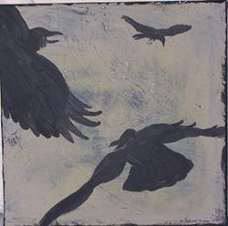 Art: Fly Over original painting by Artist Nancy Denommee