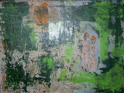 Art: In The Clearing abstract by Artist Nancy Denommee