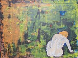 Art: The Dream abstract nude by Artist Nancy Denommee