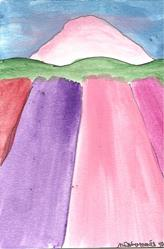 Art: Skagit Valley Tulip Festival at Sunrise by Artist Nancy Denommee