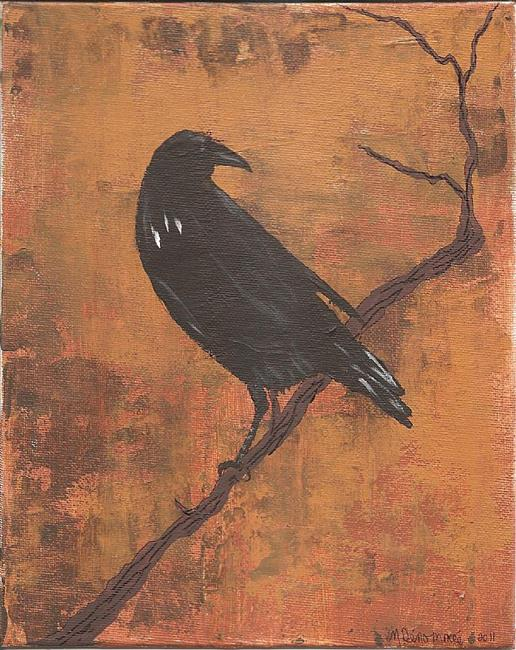 Art: The Raven Saw It Off in the Distance SOLD by Artist Nancy Denommee
