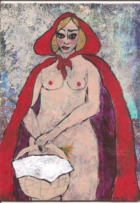 Art: Red Riding Hood by Artist Nancy Denommee