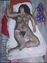 Art: A DARK CONTINENT - Freudian Slip series SOLD by Artist Nancy Denommee