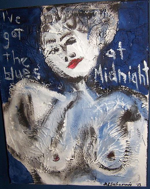 Art: I've Got the Blues at Midnight by Artist Nancy Denommee