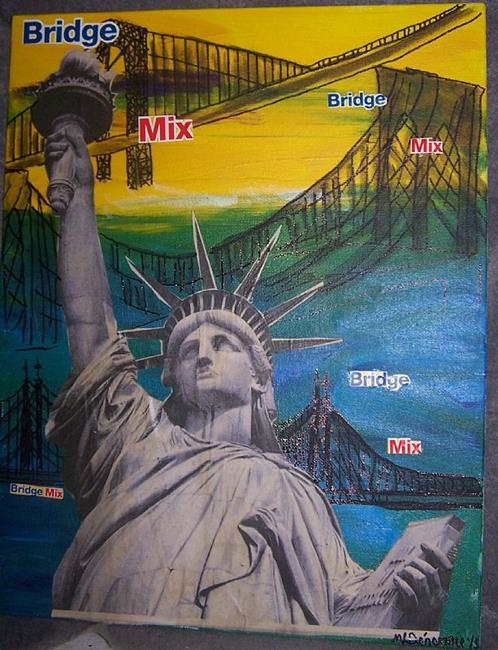 Art: New York Bridge Mix SOLD by Artist Nancy Denommee