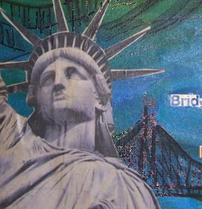Detail Image for art New York Bridge Mix SOLD