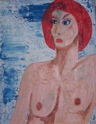 Art: New York City Woman original by Artist Nancy Denommee