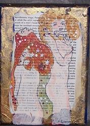 Art: The Water Snakes original painting ala Klimt by Artist Nancy Denommee