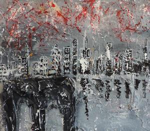 Detail Image for art fireworks over manhattan