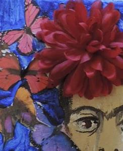Detail Image for art frida with butterflies