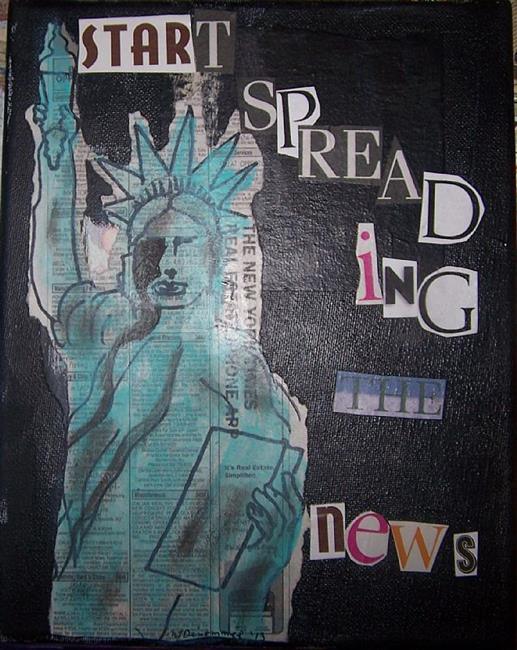 Art: Start Spreading the News SOLD by Artist Nancy Denommee