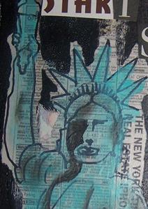 Detail Image for art Start Spreading the News SOLD