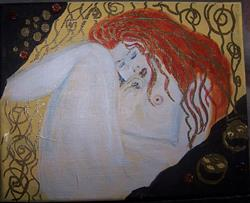 Art: Sleeping after Klimt by Artist Nancy Denommee