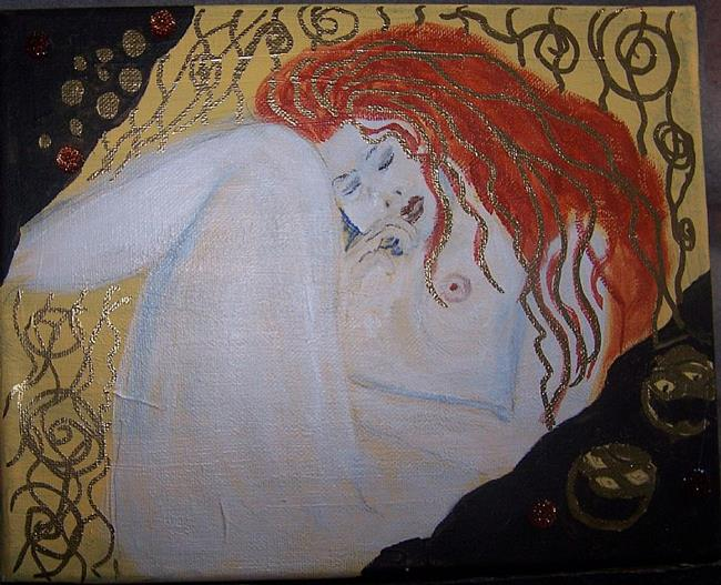 Art: Sleeping after Klimt by Artist Nancy Denommee