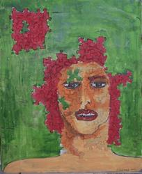 Art: Bits and Pieces original mixed media painting by Artist Nancy Denommee