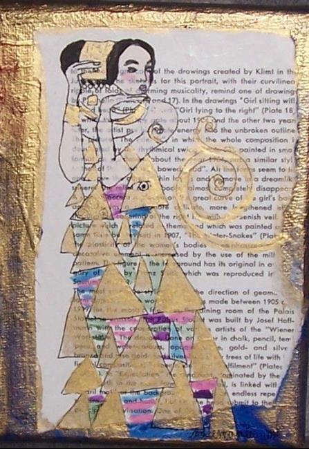Art: Expectation - After Klimt Series original painting by Artist Nancy Denommee