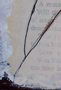 Detail Image for art All Gone, I'm Alone original mixed media painting