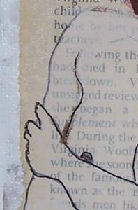 Detail Image for art Bloomsbury original mixed media painting