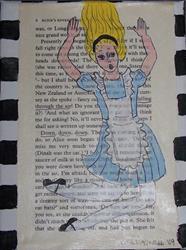 Art: Alice Falling Down, Down, Down by Artist Nancy Denommee