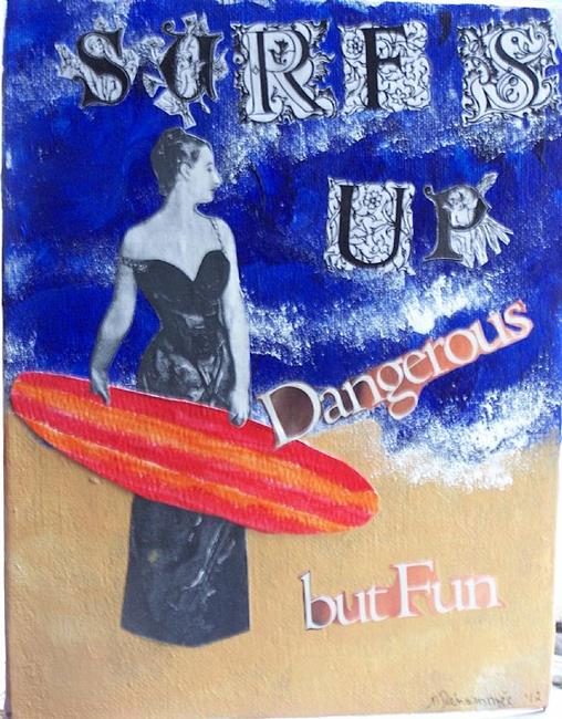 Art: Surf's Up by Artist Nancy Denommee
