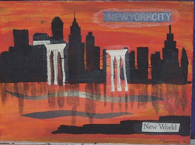 Art: The Brave New World SOLD by Artist Nancy Denommee