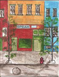 Art: Speak Easy   New York Times series SOLD by Artist Nancy Denommee