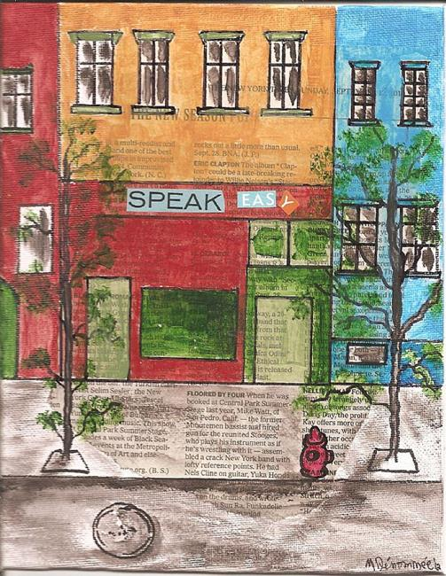 Art: Speak Easy   New York Times series SOLD by Artist Nancy Denommee
