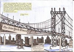 Art: Manhattan Bridge   New York Times Series SOLD by Artist Nancy Denommee