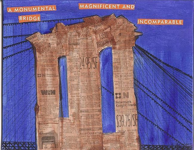 Art: A Monumental Bridge   New York Times series SOLD by Artist Nancy Denommee
