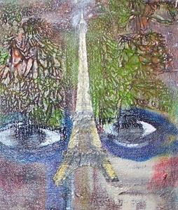 Detail Image for art She Has a Dream of Paris SOLD