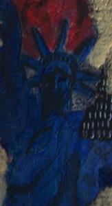 Detail Image for art Red White and Blue Ladies in Golden City glare SOLD