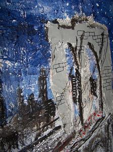 Detail Image for art Brooklyn Bridge on a Starry Night