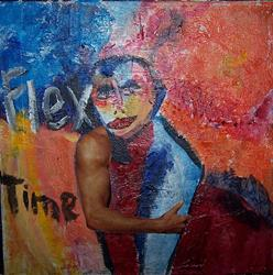 Art: Flex Time by Artist Nancy Denommee
