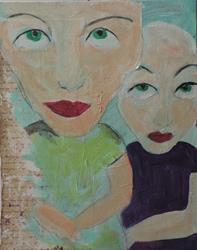 Art: faces # 81 by Artist Nancy Denommee