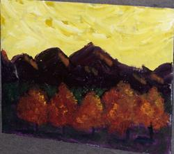 Art: The Yellow Sky original oil painting by Artist Nancy Denommee